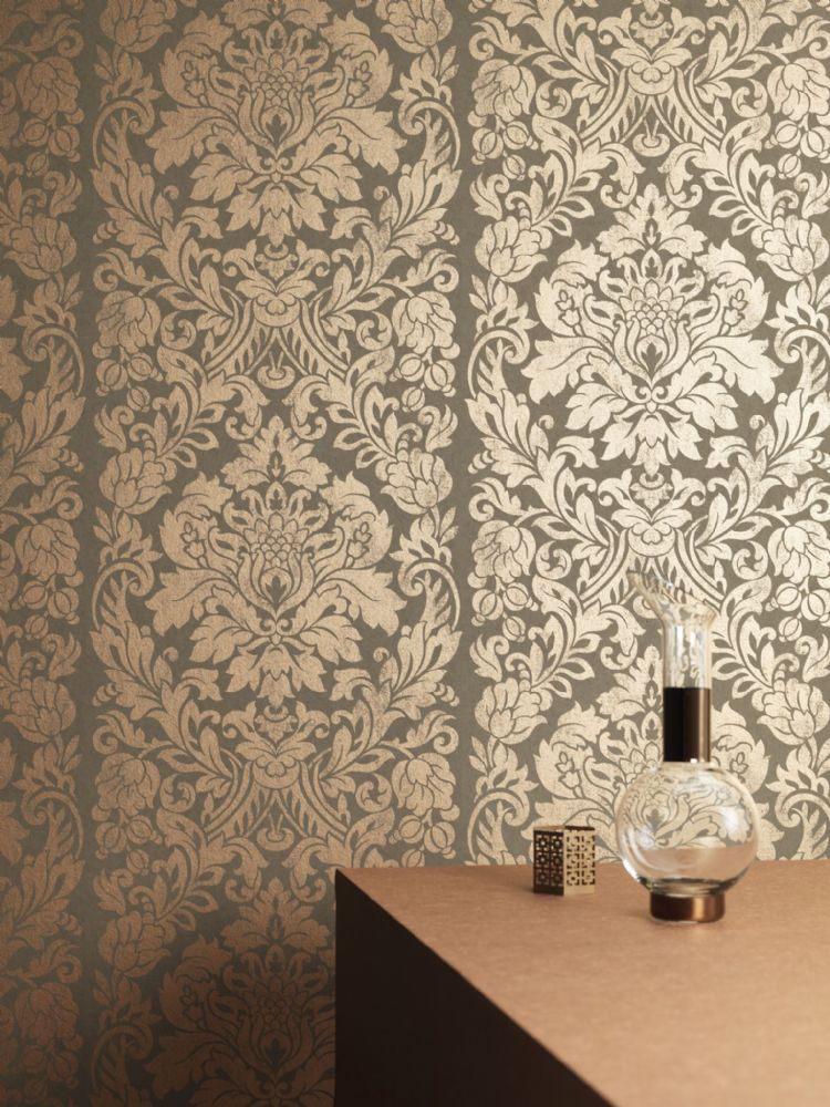 Graham and Brown Gloriana Copper 33-329 Wallpaper